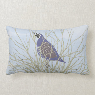 Quail Lumbar Throw Pillow