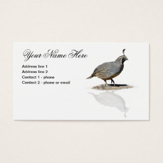 QUAIL REFLECTED #1 BUSINESS CARD