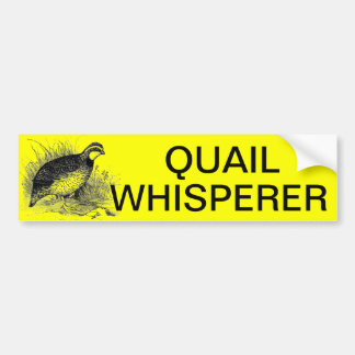 QUAIL WHISPERER BUMPER STICKER
