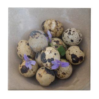 Quails eggs & flowers 7533 ceramic tiles