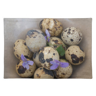 Quails eggs & flowers 7533 placemat