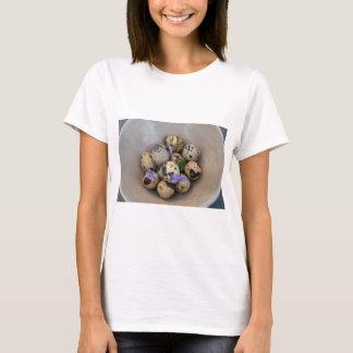 Quails eggs & flowers 7533 T-Shirt