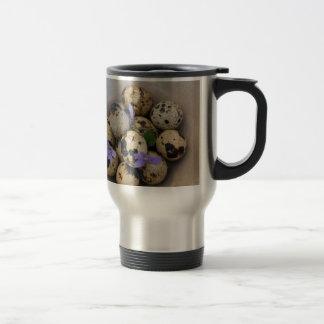 Quails eggs & flowers 7533 travel mug