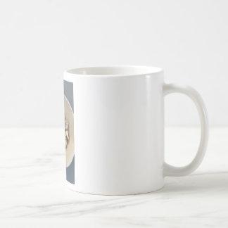 Quails eggs in a bowl coffee mug