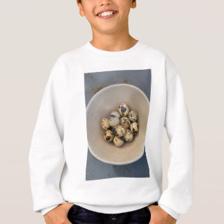 Quails eggs in a bowl sweatshirt