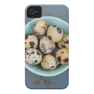 Quails eggs in a green bowl iPhone 4 case