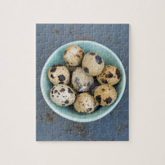Quails eggs in a green bowl jigsaw puzzle