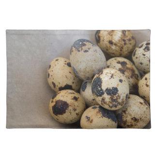 Quails eggs placemat