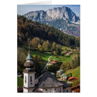 Quaint bavarian village, Germany Card