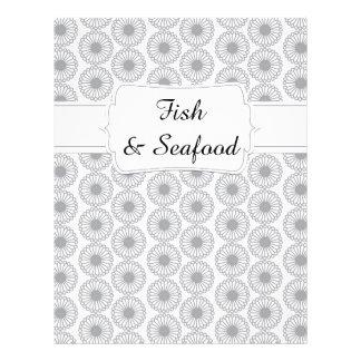 Quaint Grey Floral Recipe Divider Letterhead