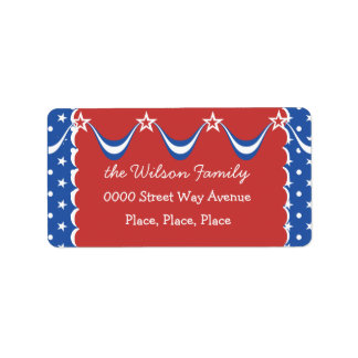 Quaint Independence Day Label