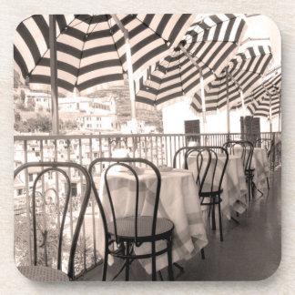Quaint restaurant balcony, Italy Beverage Coaster