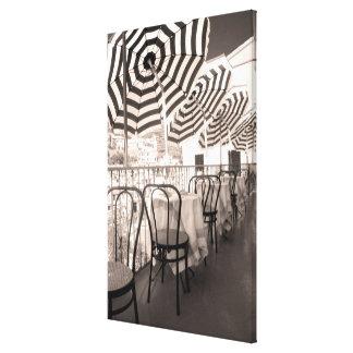 Quaint restaurant balcony, Italy Canvas Print