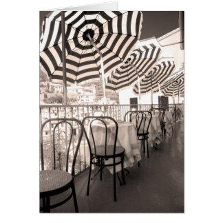 Quaint restaurant balcony, Italy Card