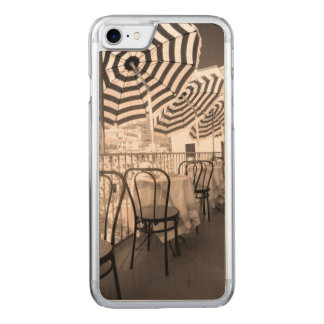 Quaint restaurant balcony, Italy Carved iPhone 7 Case
