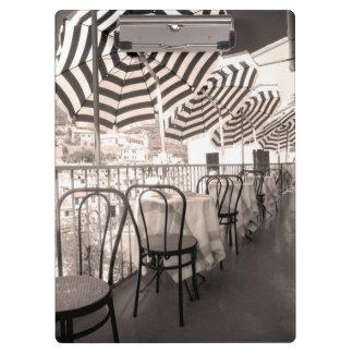 Quaint restaurant balcony, Italy Clipboards