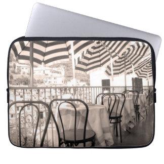 Quaint restaurant balcony, Italy Laptop Sleeve