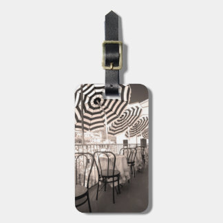Quaint restaurant balcony, Italy Luggage Tag