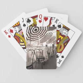 Quaint restaurant balcony, Italy Playing Cards