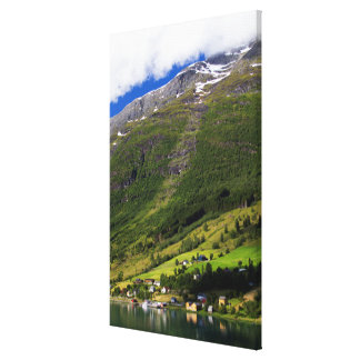 Quaint Village by the fjord, Norway Canvas Print
