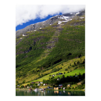 Quaint Village by the fjord, Norway Postcard