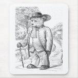 Quaker Bear - Letter Q - Vintage Teddy Bear Mouse Pad