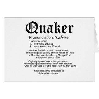 Quaker Definition Card