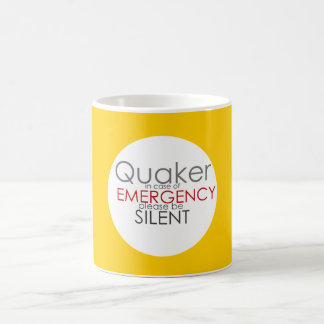 Quaker Emergency Coffee Mug