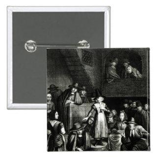 Quaker Meeting, 1699 Pinback Button
