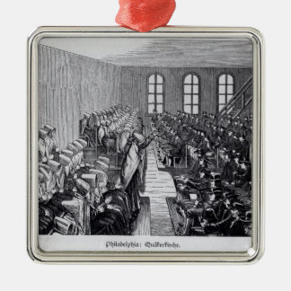 Quaker Meeting, Philadelphia Metal Ornament