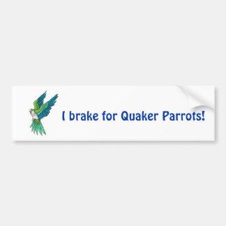 Quaker Parrot Products Bumper Sticker