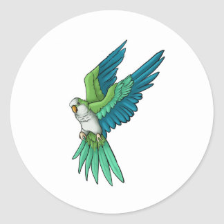 Quaker Parrot Products Round Sticker