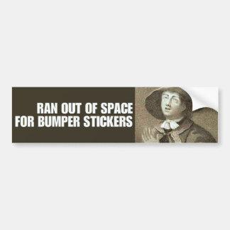 Quaker Problems Bumper Sticker