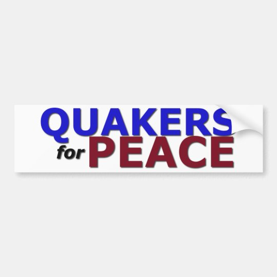 Quakers for Peace Bumper Sticker
