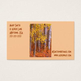 Quaking Aspen in Autumn Business Card