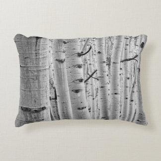 Quaking Aspen Tree Bark Pattern Accent Pillow