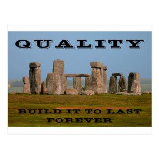Quality-1-Build it to Last Postcard