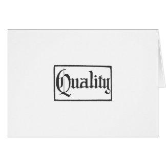Quality Cards