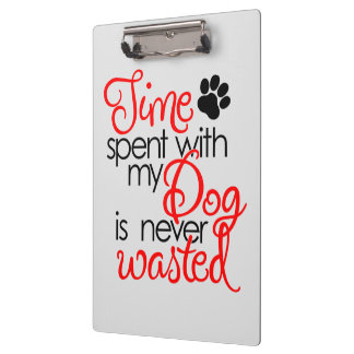 Quality Dog Time Clipboard