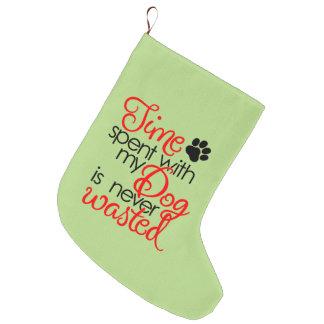 Quality Dog Time Large Christmas Stocking