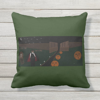 quality halloween throw pillow