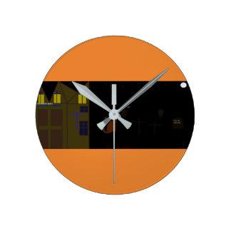 Quality halloween tote bag round clock