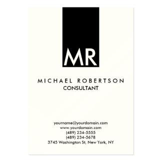 Quality Indestructible Special Monogram Unique Large Business Card