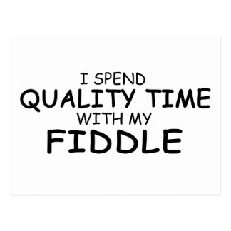 Quality Time Fiddle Postcard