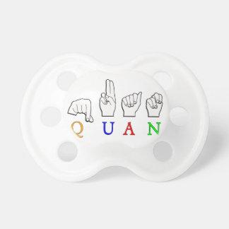 QUAN FINGERSPELLED ASL NAME SIGN PACIFIER