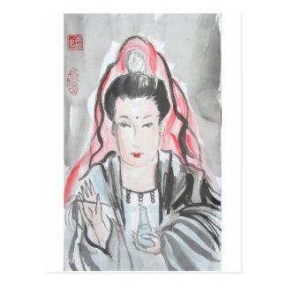 Quan Yin Goddess of Compassion Postcard
