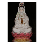 Quan Yin Goddess of Mercy Buddha Meditation Poster