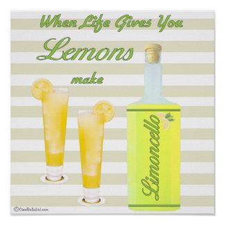 Quand la vie vous donne les citrons font Limoncell