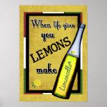 Quand la vie vous donne les citrons font Limoncell Posters