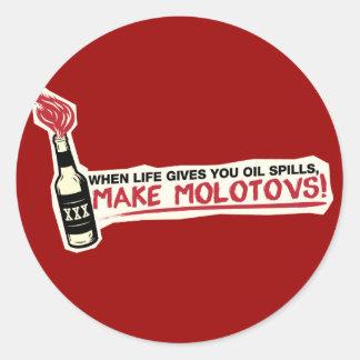 quand la vie vous donne les flaques d'huile font sticker rond